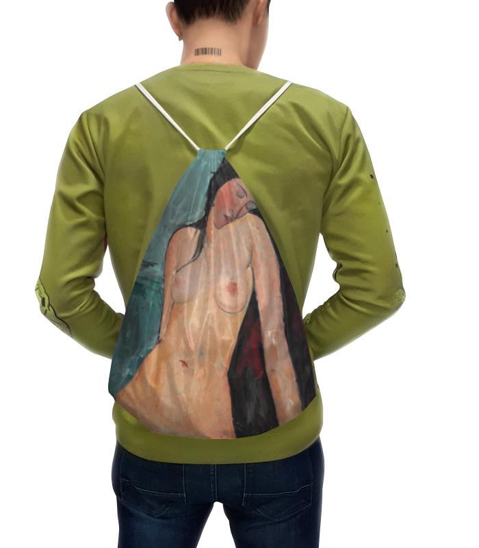 Рюкзак с полной запечаткой Printio Сидящая обнажённая (картина модильяни) чехол для iphone x объёмная печать printio сидящая обнажённая картина модильяни 1916