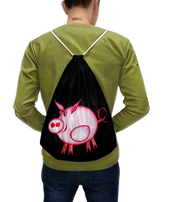 Рюкзак-мешок с полной запечаткой Printio Розовый поросенок рюкзак мешок с полной запечаткой printio мой маленький пони