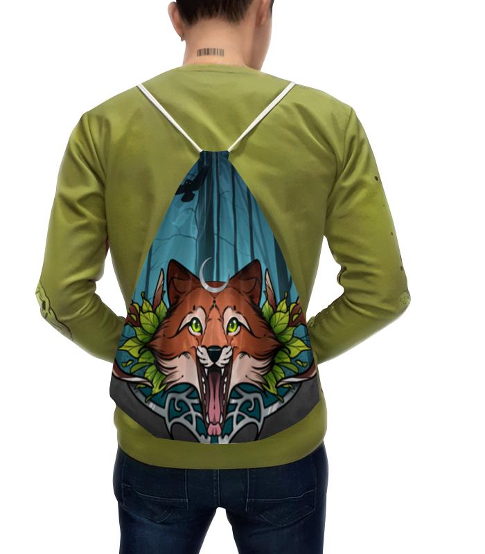 Рюкзак-мешок с полной запечаткой Printio Night fox рюкзак fox sayak lock up backpack camo 19548 027 os