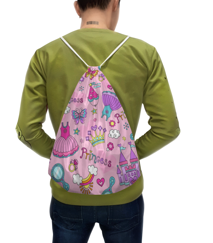 цена на Рюкзак-мешок с полной запечаткой Printio Принцесса