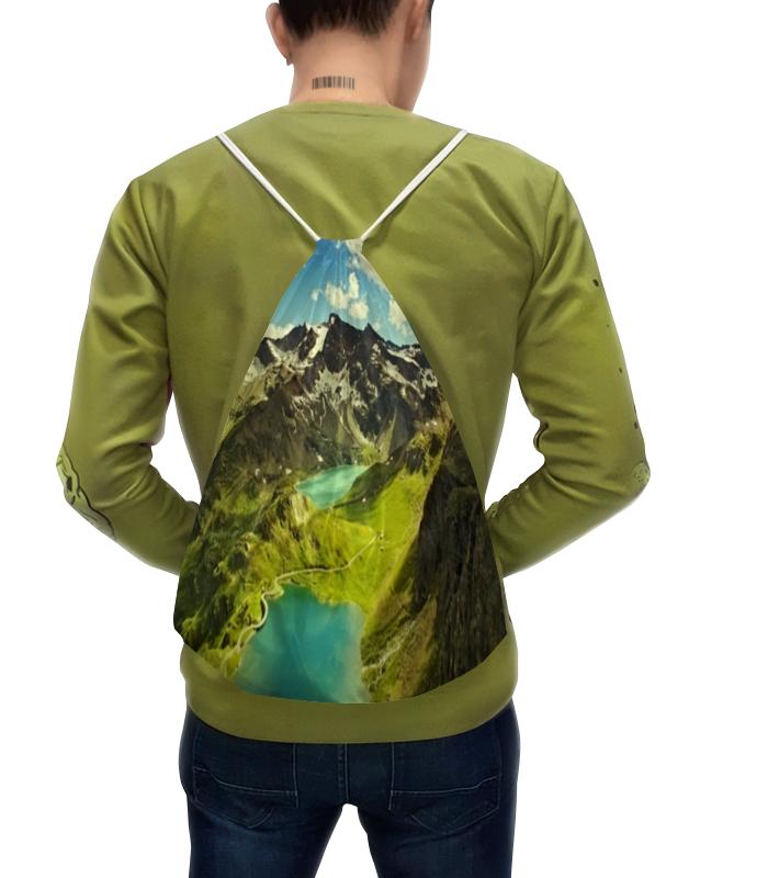 Рюкзак с полной запечаткой Printio Горное озеро горное гнездо