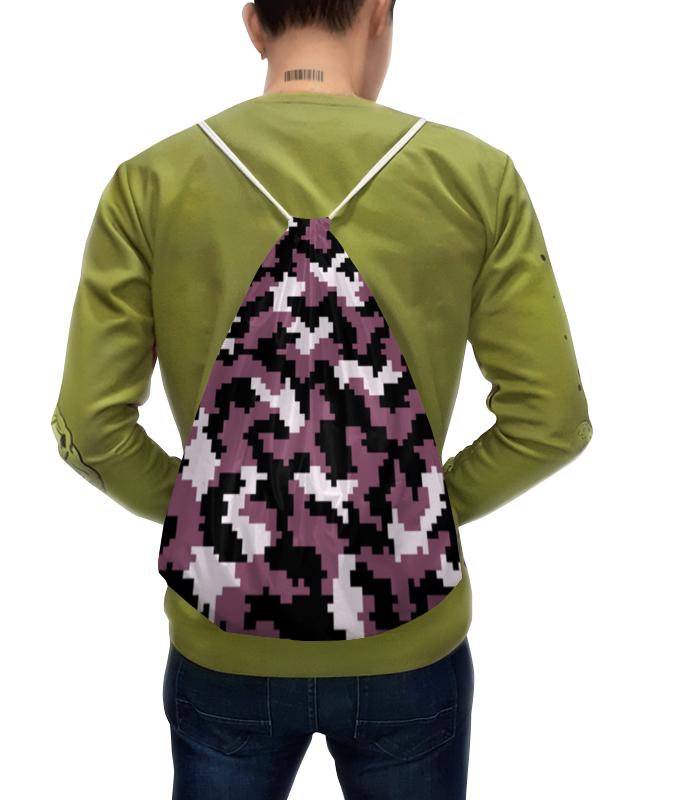 Рюкзак с полной запечаткой Printio Фиолетовый камуфляж камуфляж холст рюкзак студенты рюкзак сумка открытый рюкзак