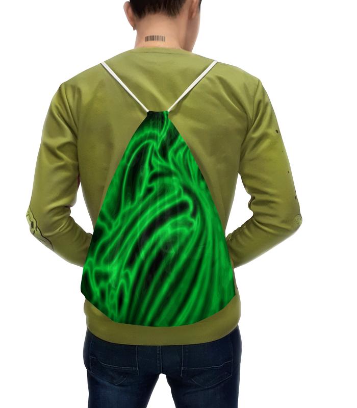 Рюкзак с полной запечаткой Printio Блестящий зеленый борцовка с полной запечаткой printio блестящий