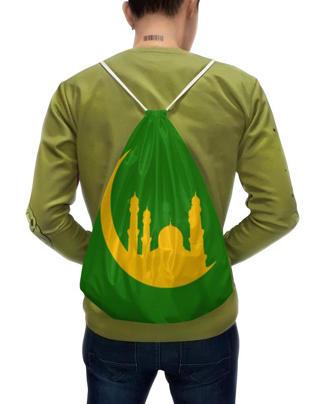Рюкзак-мешок с полной запечаткой Printio Полумесяц с мечетями. цена