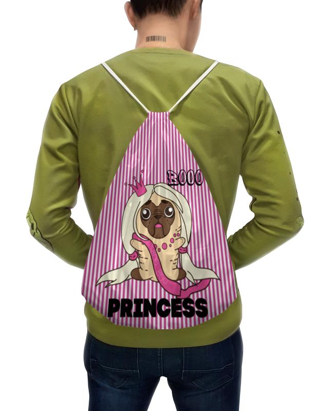 цена на Рюкзак-мешок с полной запечаткой Printio Принцесса мопс
