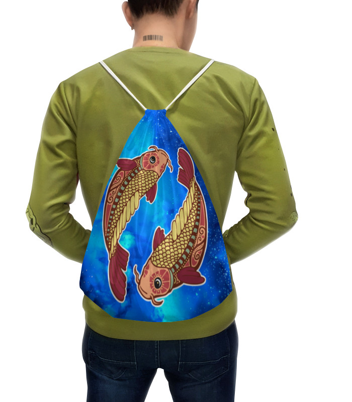 Рюкзак с полной запечаткой Printio Зодиак-рыбы рюкзак с полной запечаткой printio маки