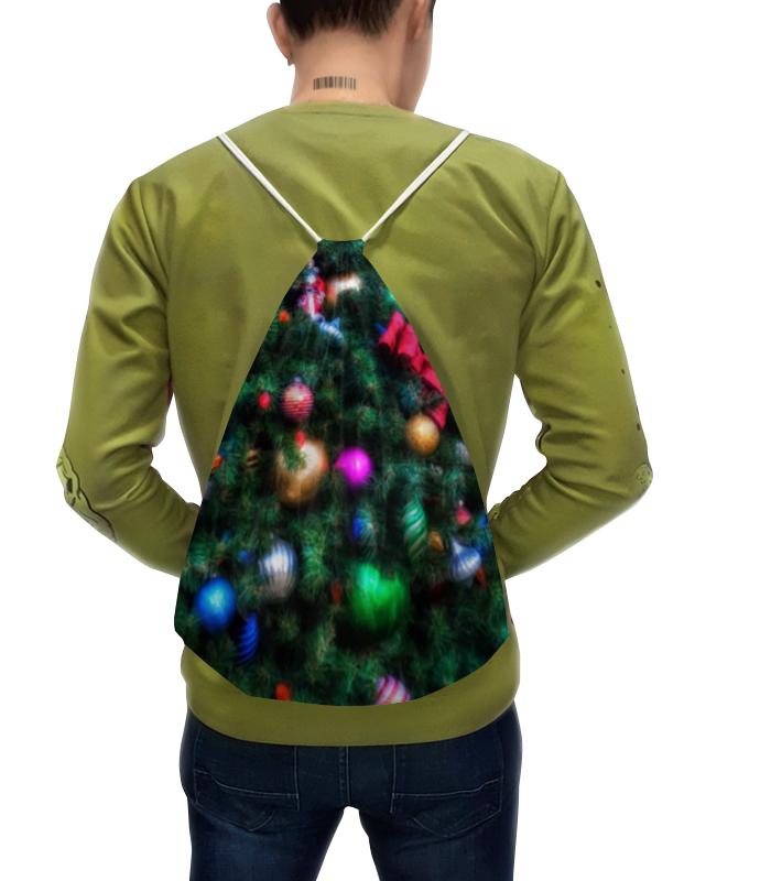 Рюкзак с полной запечаткой Printio Нарядная елка (живопись) сосна елка от белки 90cm green