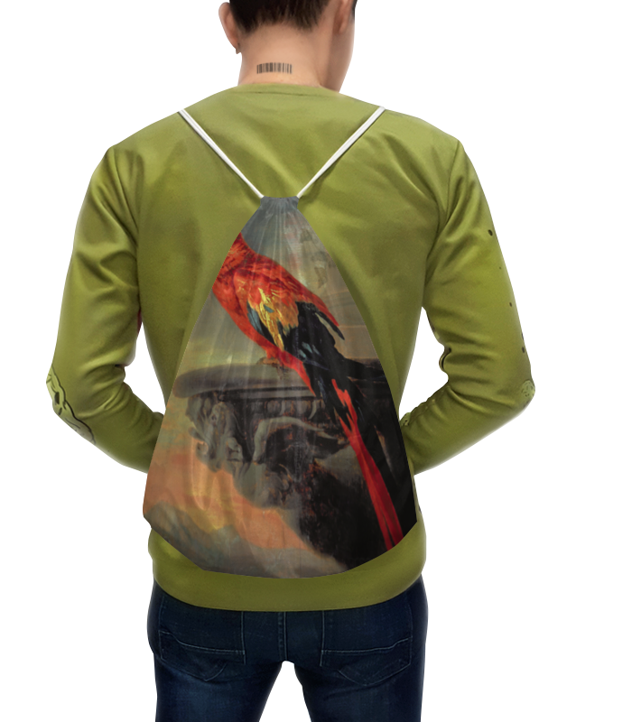 Рюкзак-мешок с полной запечаткой Printio Попугай (рубенс) цена