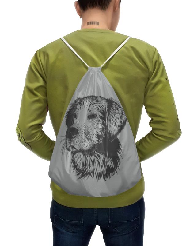 Рюкзак-мешок с полной запечаткой Printio Портрет морды собаки. рюкзак с полной запечаткой printio портрет четы арнольфини ян ван эйк