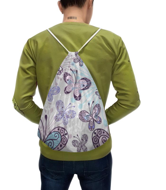 Рюкзак с полной запечаткой Printio Фиолетовые бабочки