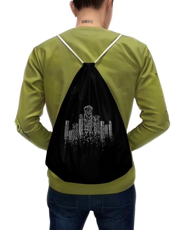 Рюкзак-мешок с полной запечаткой Printio Огни ночного города. марина городничева восьмая луна сказки ночного города