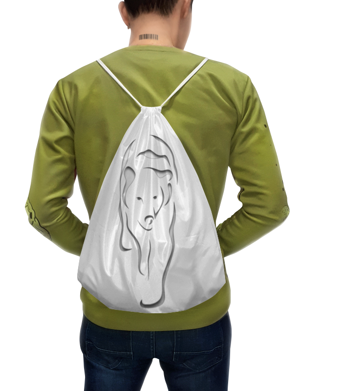 Рюкзак с полной запечаткой Printio Медведица тема пюре говядина с рисом 100 г