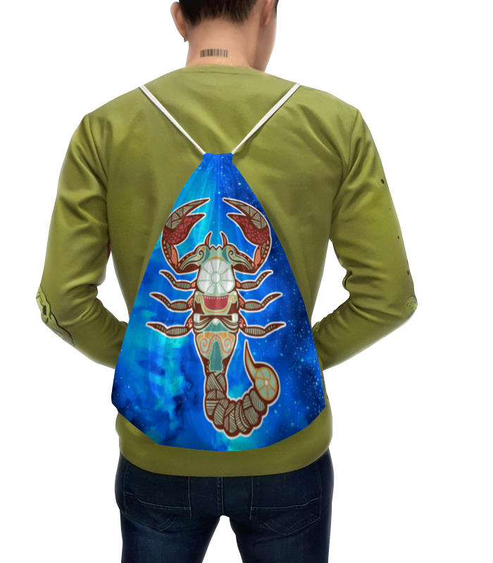 """Рюкзак-мешок с полной запечаткой Printio Скорпион рюкзак с полной запечаткой printio рюкзак watercolor"""""""