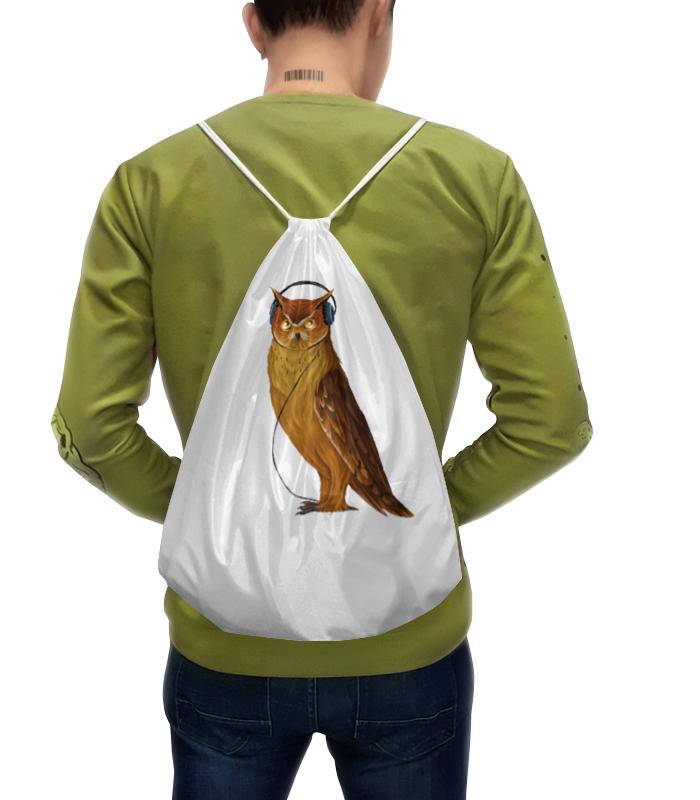 Рюкзак с полной запечаткой Printio Сова в наушниках конверт средний с5 printio сова в наушниках
