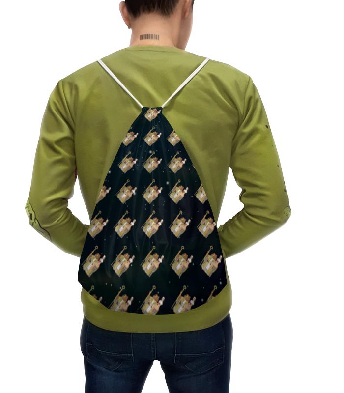 лучшая цена Рюкзак-мешок с полной запечаткой Printio Фоном медведь wap.click на троне
