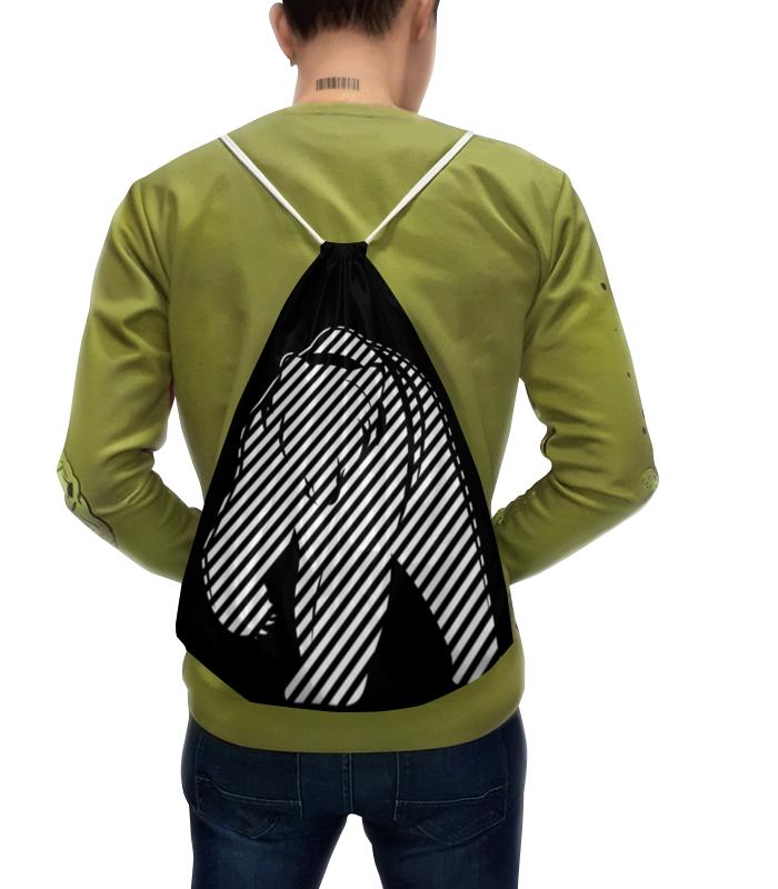 Рюкзак-мешок с полной запечаткой Printio Полосатый полосатый рейс