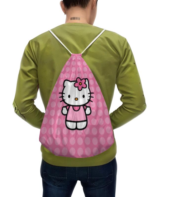 лучшая цена Рюкзак-мешок с полной запечаткой Printio Kitty в горошек