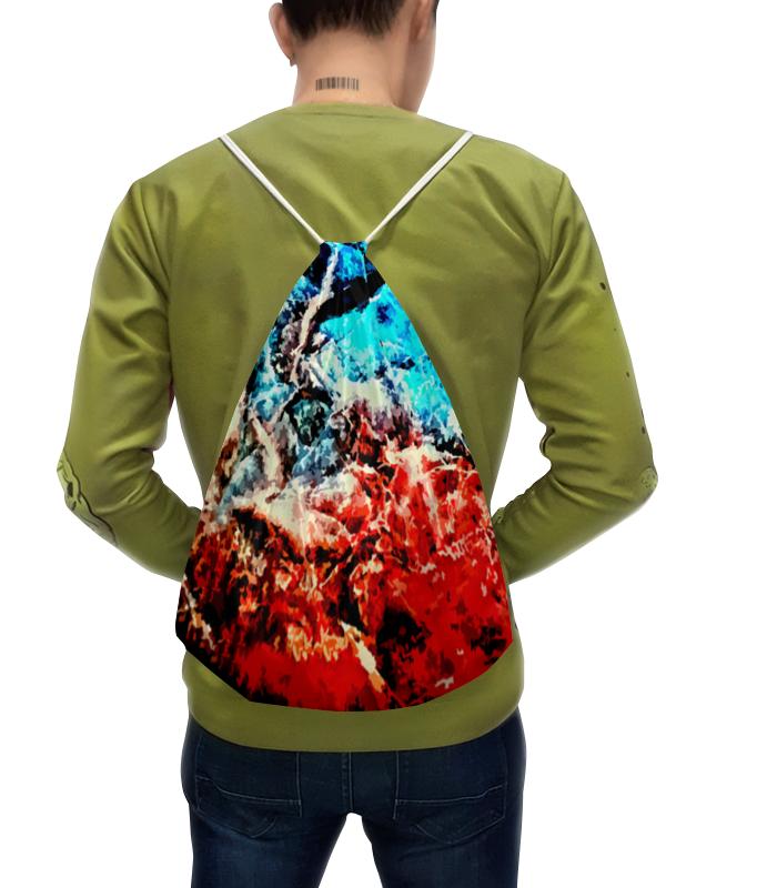Рюкзак-мешок с полной запечаткой Printio Лед и пламя рубашка поло с полной запечаткой printio лед и пламя