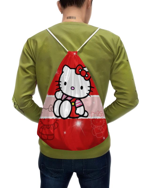 Рюкзак с полной запечаткой Printio Hello kitty с искрами hello kitty hellokitty детские школьные сумки прекрасный свежий и простой случайный легкий рюкзак школьный ktm0003b розовый