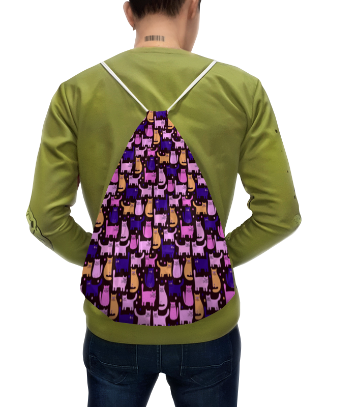 цена Рюкзак-мешок с полной запечаткой Printio Цветные котята