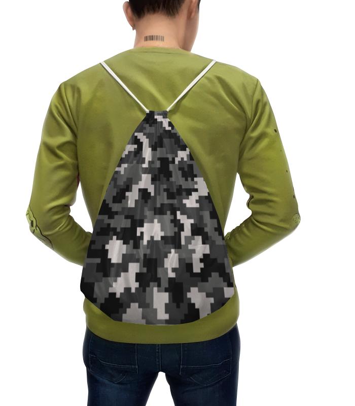 Рюкзак-мешок с полной запечаткой Printio Камуфляж камуфляж мужской рюкзак корейской моды рюкзак студентов рюкзак сумка