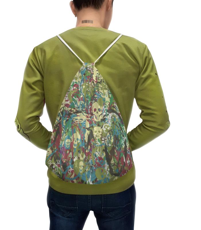 Рюкзак-мешок с полной запечаткой Printio Камуфляж с черепами