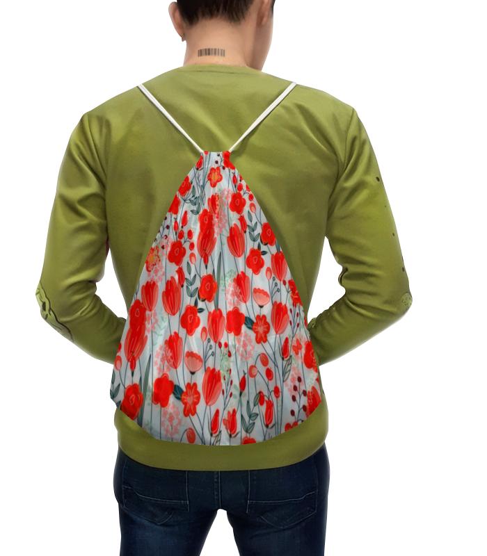Рюкзак с полной запечаткой Printio Красные цветы рюкзак с полной запечаткой printio цветы тропиков