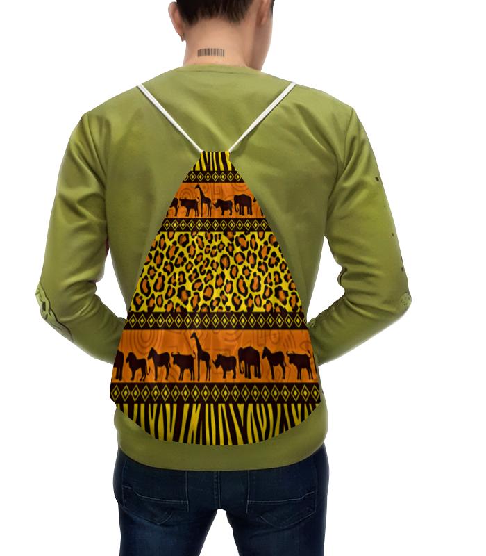 Рюкзак-мешок с полной запечаткой Printio Африка