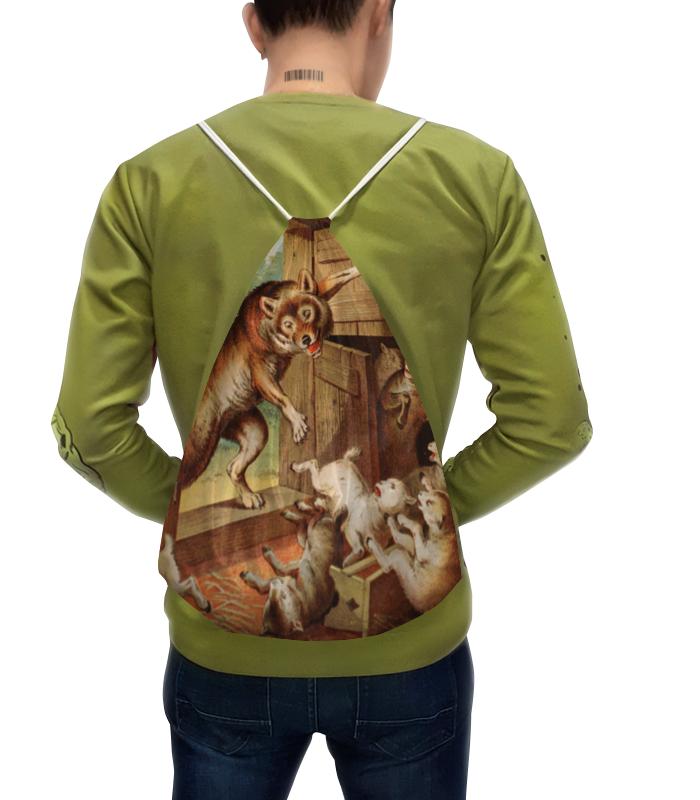 Рюкзак с полной запечаткой Printio Волк и семеро козлят азбукварик книга с музыкальным модулем волк и семеро козлят