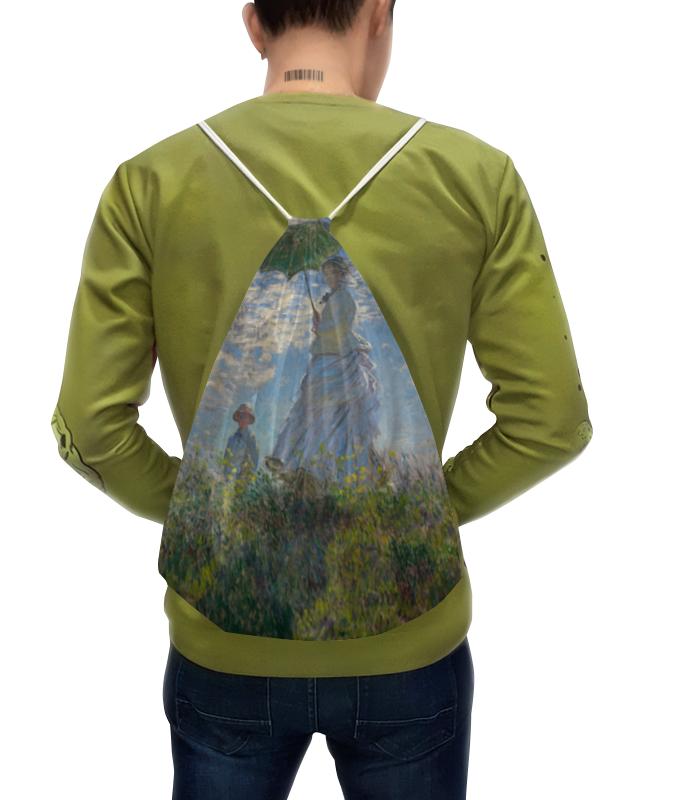 Рюкзак с полной запечаткой Printio Дама с зонтиком — мадам моне со своим сыном картина из кожи дама с зонтиком моне коллекция elole interior синий сплошн холст прямоуг рама