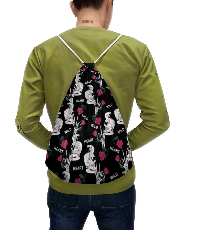Рюкзак с полной запечаткой Printio Череп с цветами рюкзак с полной запечаткой printio девушка