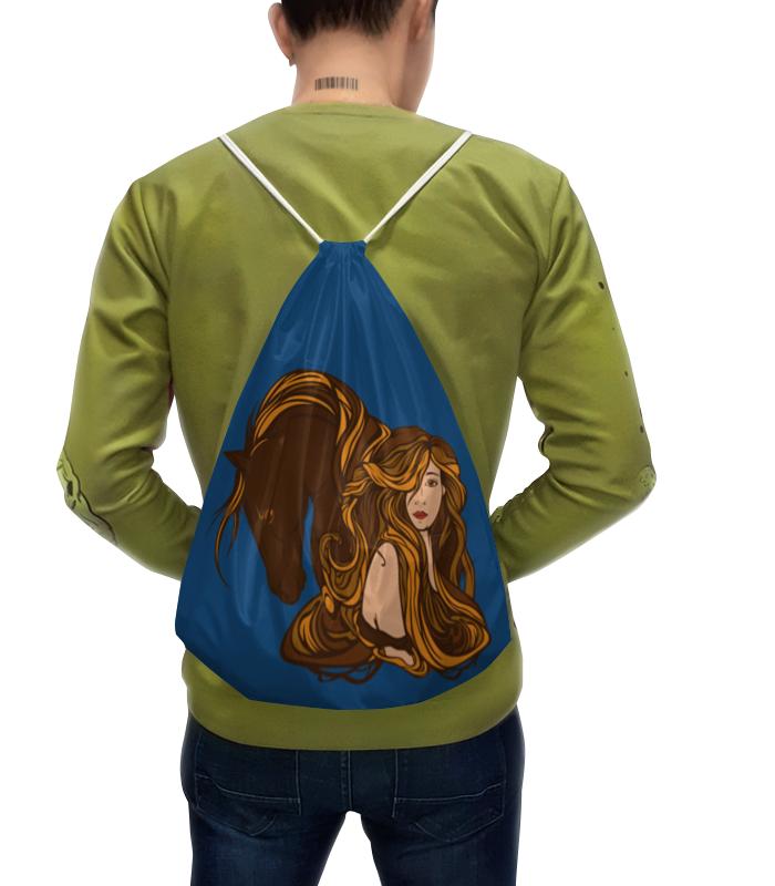 Рюкзак-мешок с полной запечаткой Printio Девушка и лошадь рюкзак мешок с полной запечаткой printio девушка