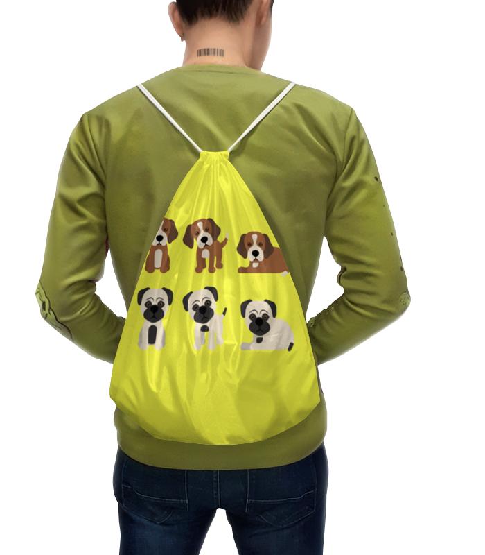 Рюкзак с полной запечаткой Printio Милые щенки щенки метисы левретки взять