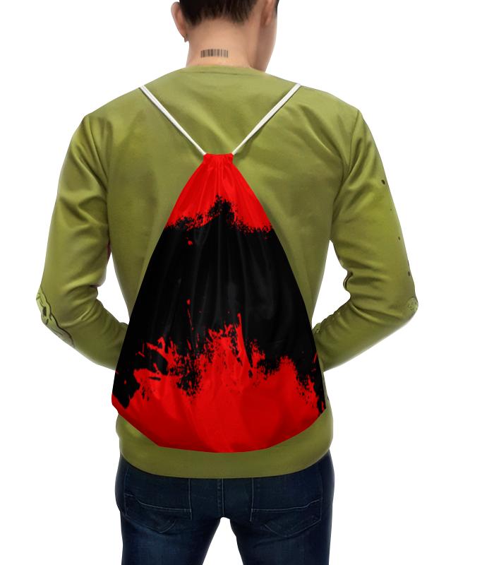 Рюкзак с полной запечаткой Printio Черно-красные краски цена