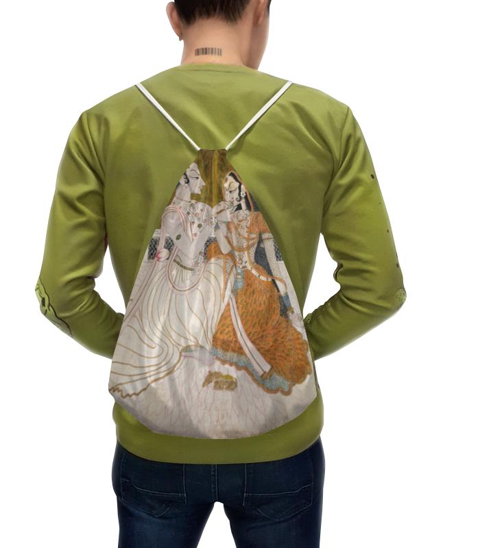 Рюкзак-мешок с полной запечаткой Printio Кришна и радха (раджпутская живопись) цена