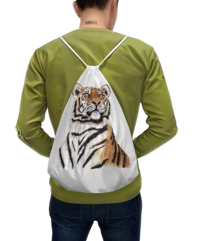 цена Рюкзак-мешок с полной запечаткой Printio Взгляд тигра
