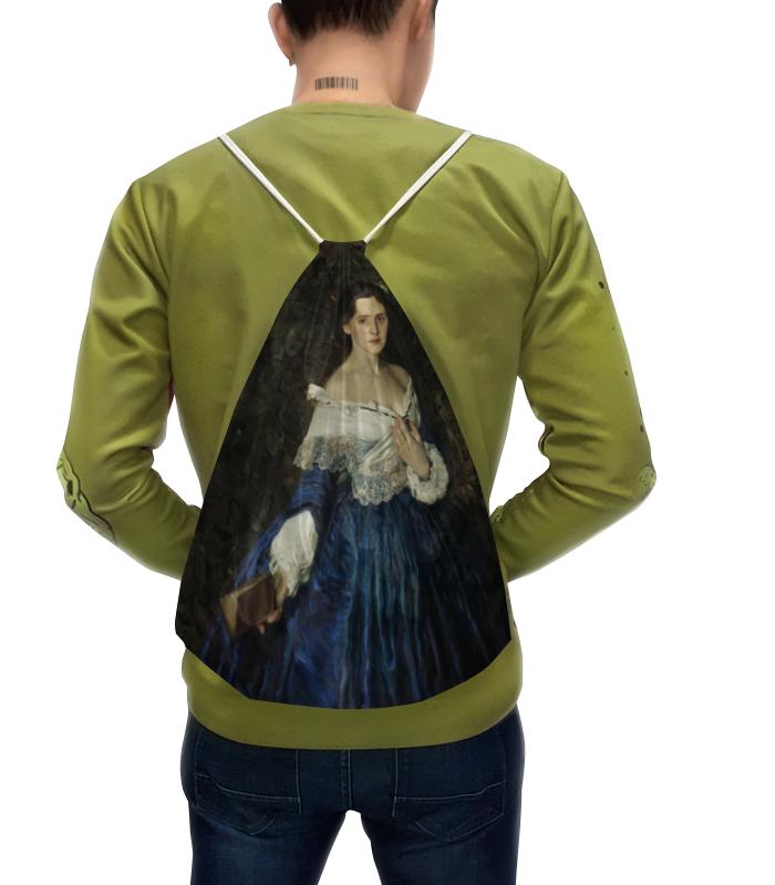 Рюкзак с полной запечаткой Printio Дама в голубом (картина сомова) jp 38 19 картина дама pavone