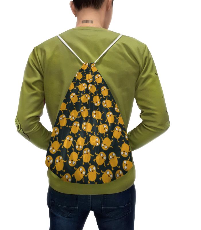 Рюкзак с полной запечаткой Printio Джейк мульт культ плюш adventure time jake 25см