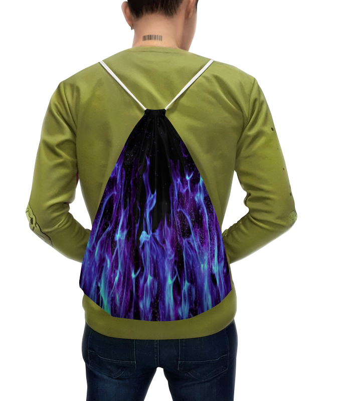Рюкзак с полной запечаткой Printio Синий огонь цена 2017