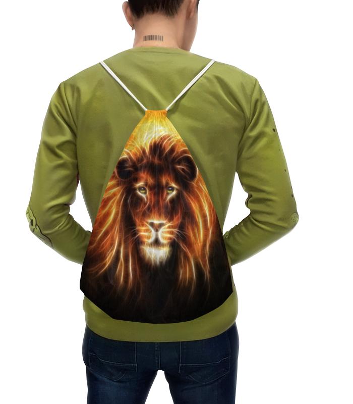 Рюкзак с полной запечаткой Printio Огненный лев
