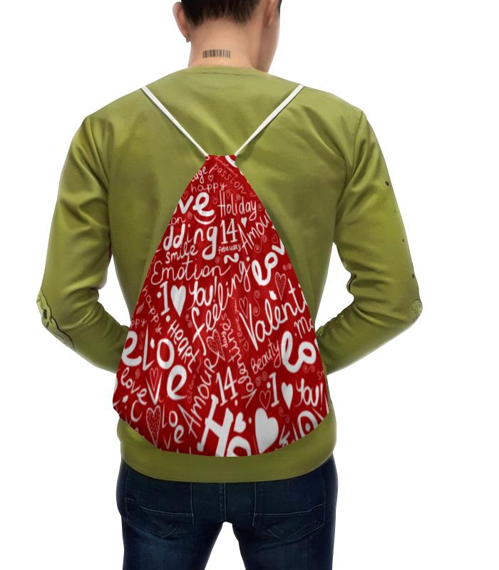 Рюкзак с полной запечаткой Printio Love любовь сумка с полной запечаткой printio любовь love