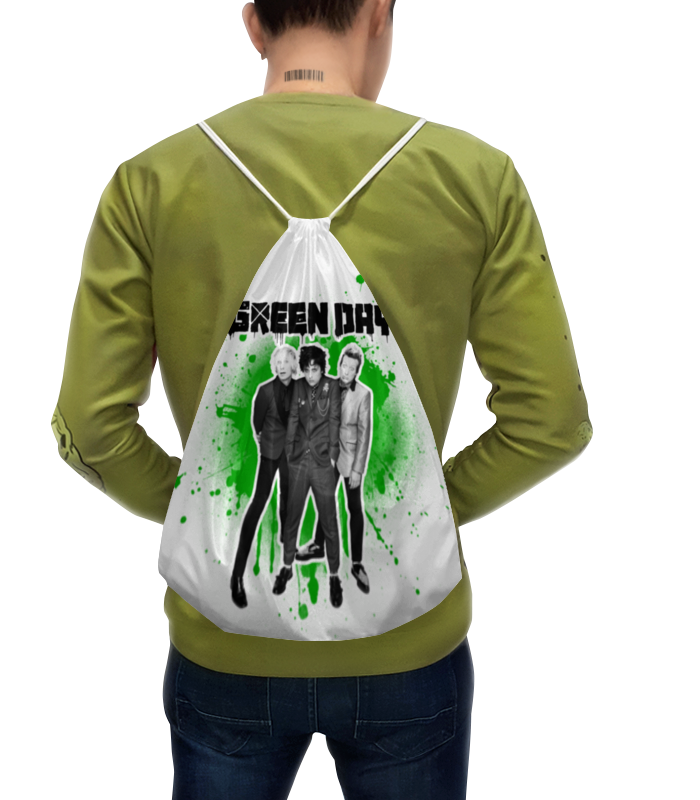 Рюкзак с полной запечаткой Printio Green day danjue genuine leather men wallets long coin purses big capacity card holder cowhide day clutch phone money bag