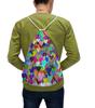 """Рюкзак-мешок с полной запечаткой """"Разноцветные сердца"""" - сердце, любовь, 14 февраля, орнамент, подарок"""