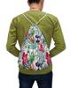 """Рюкзак-мешок с полной запечаткой """"Тропические цветы"""" - милый, лето, пальма, орхидея, женственно"""