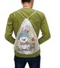 """Рюкзак-мешок с полной запечаткой """"Медвежонок"""" - юмор, зима, рисунок, мультяшка, медвежонок"""