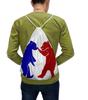 """Рюкзак-мешок с полной запечаткой """"Мишутки"""" - патриот, россия, флаг, мишки медвежата"""
