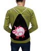 """Рюкзак-мешок с полной запечаткой """"Розовый поросенок"""" - арт, счастье, малыш, свин, розовый поросенок"""
