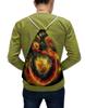 """Рюкзак-мешок с полной запечаткой """"Dragon Fire"""" - змея, дракон, огонь"""