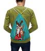 """Рюкзак-мешок с полной запечаткой """"Дед мороз с оленем"""" - праздник, новый год, радость, дед мороз, олень"""