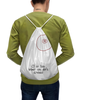 """Рюкзак-мешок с полной запечаткой """"CD или титя"""" - диск, грудь, cd, не царапать"""